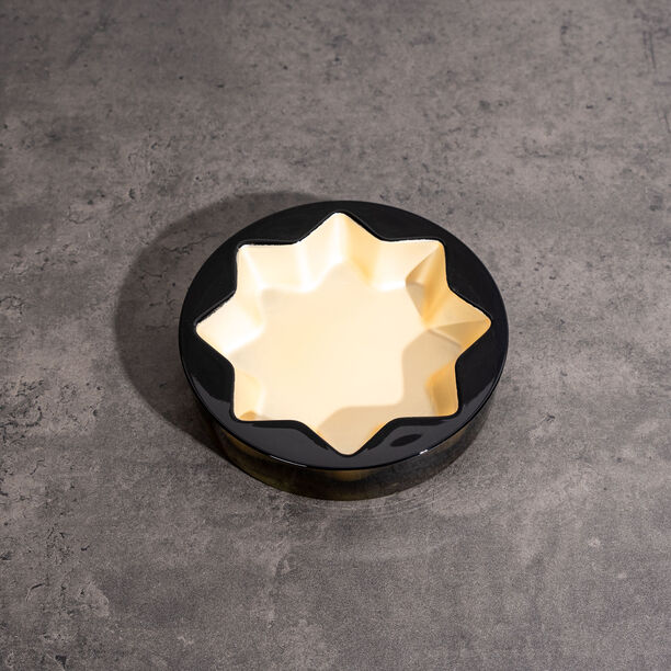 Glass Ashtray Grey And Gold Casa Blanca image number 1