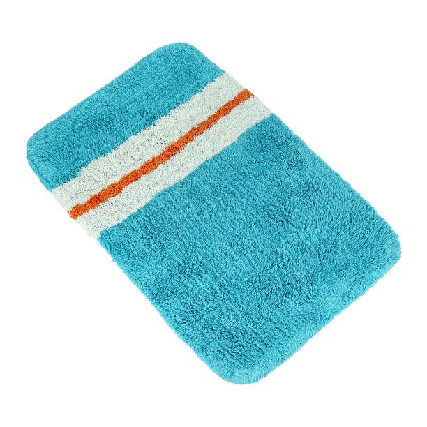 Bath Mat 50X80Cm Cotton Blue  image number 0