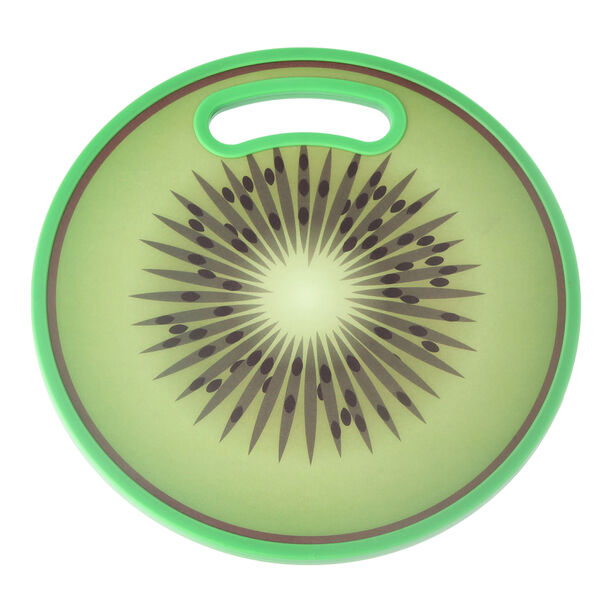 Round Plastic Printed Cutting Board Kiwi Design image number 0