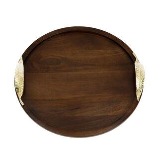 Wood Circular Tray Leaf