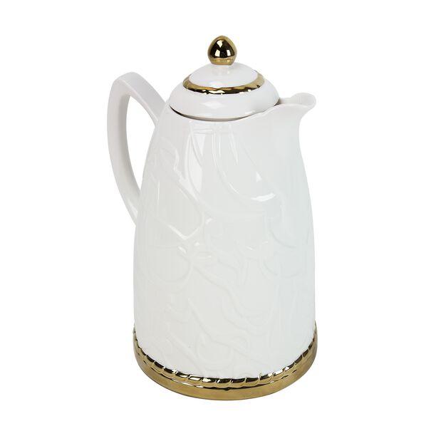 Dallety Porclain Vacuum Flask Kan Ya Makan White 1L image number 1