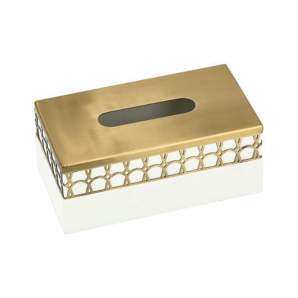 Metal & Wood Tissue Box Qamaryat image number 3