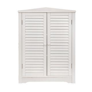 خزانة جانبية خشبية لون أبيض