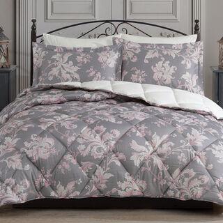 Cottage 5 Pieces Comforter Set Versailles Grey King And Queen