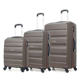 "Travel Vision Set Of 3 20/26/30"" Latte"