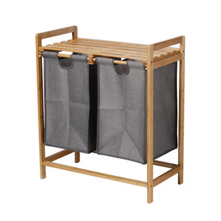 Bamboo Double Laundry Basket