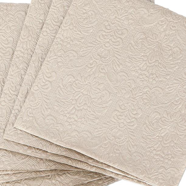 Elegance Serving Napkins Paper Square Taupe  image number 2