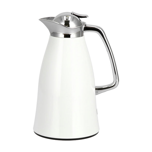 Vacuum Flask Chrome And White 1L image number 0