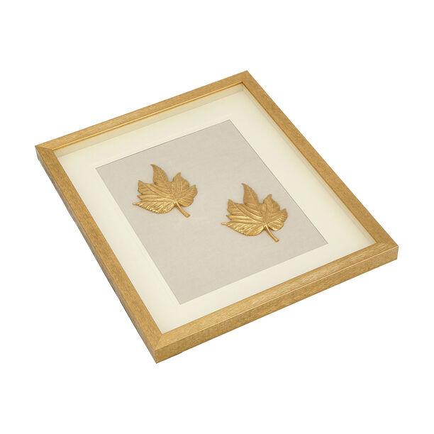 Shadow Box With Frame Golden Leaf Golden image number 2