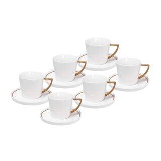 طقم أكواب شاي 12 قطعة لون ذهبي من لاميسا