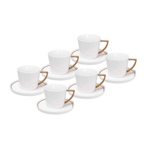 طقم أكواب شاي 12 قطعة لون ذهبي من لاميسا image number 0