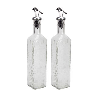 2 Pieces Glass Oil And Vinegar Set