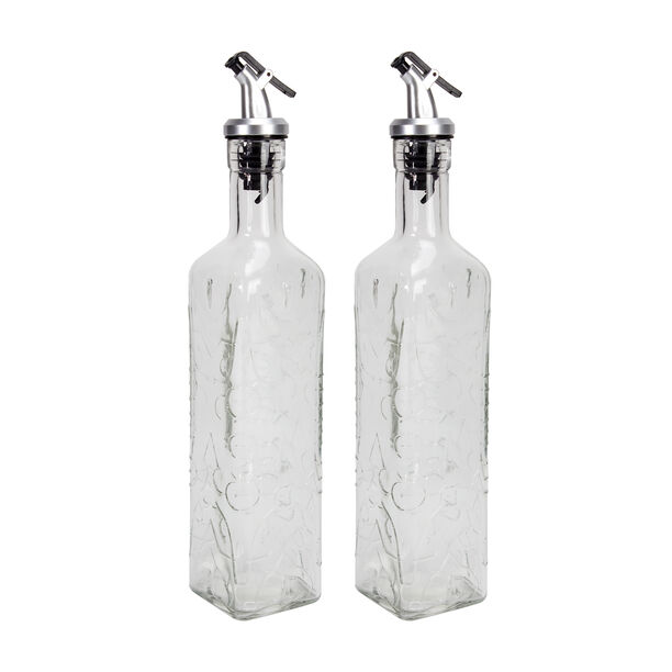 2 Pieces Glass Oil And Vinegar Set image number 0
