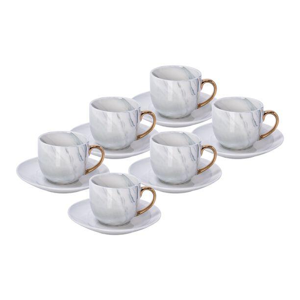 La Mesa Grey Marble/Gold Coffee Set 12 Pieces image number 0
