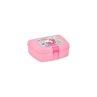 Herevin Lunch Box Unicorn Design Pink