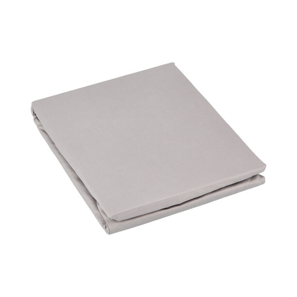 Fitted Sheet Light Grey 120*200 Cm 100% Cotton image number 1