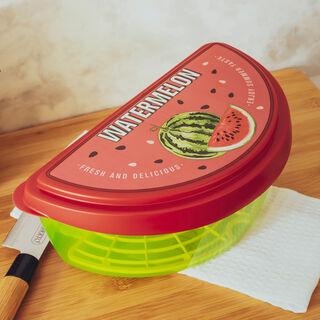 حافظة بطيخ بلاستيك مع غطاء لون أحمر