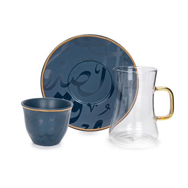 طقم كاسات قهوة مع شاي 18 قطعة image number 2