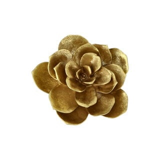 Wall Deco Flower Gold 14.5*6.2*14.8Cm