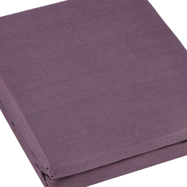 Fitted Sheet 200*200+35 Cm Dark Purple 100% Cotton image number 2