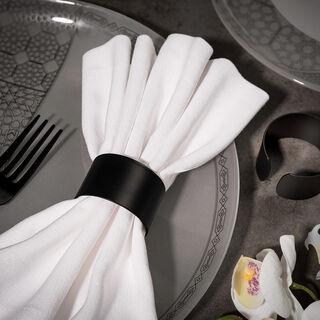 Abundance Napkin Ring Set Of 2 Black Poder Coat