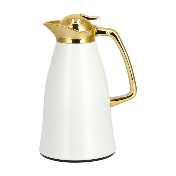 Steel Vacuum Flask Falco Gold And White 1L image number 1