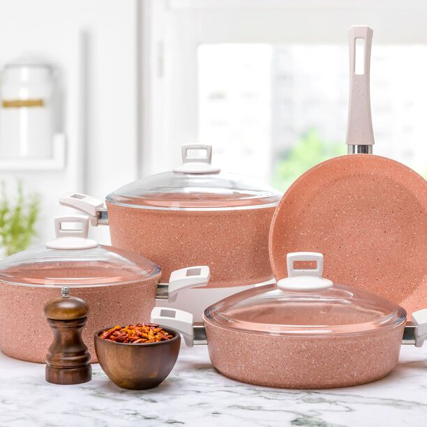 Alberto Granit 7Pcs Cookware Pinky image number 5