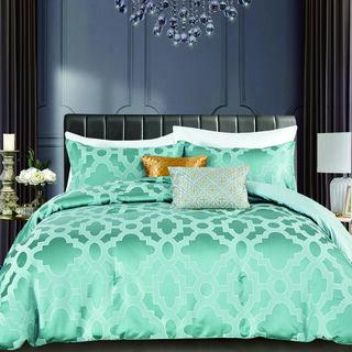 Cottage 4 Pieces Jacquard Comforter Set King Size