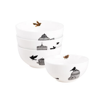 "La Mesa Portu Casa 4 Pieces Set 5.5"" Bowl New Bone"