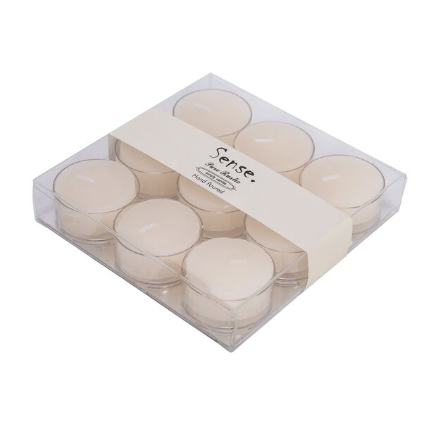 Tea Light Candle Ivory Simply Vanilla Scent Set Of 9 image number 1