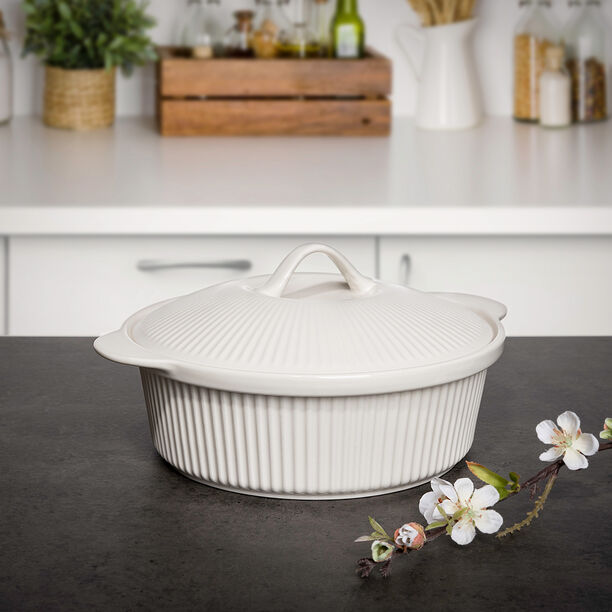 Round Casserole With Ceramic Lid image number 0