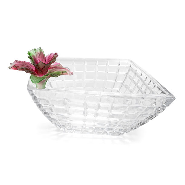 La Mesa Glass Bowl With Pink Crystal Flower 31Cm image number 2