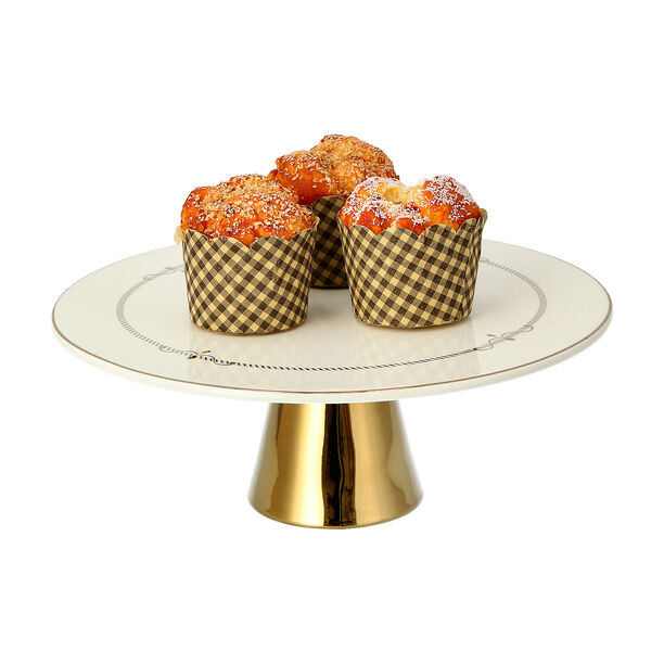 Andalusian Gld Frill Footed Cake Stand image number 2