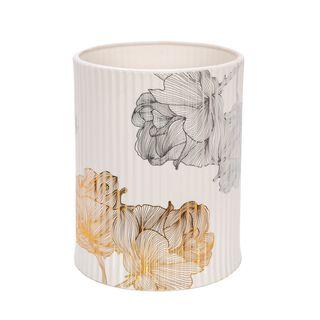 Ceramic Waste Bin Golden Garden