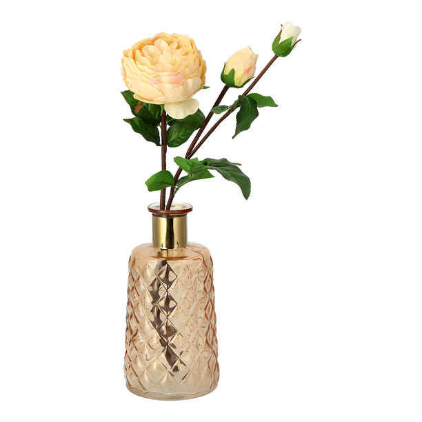 Vase With Gold Ring Amber Color image number 1