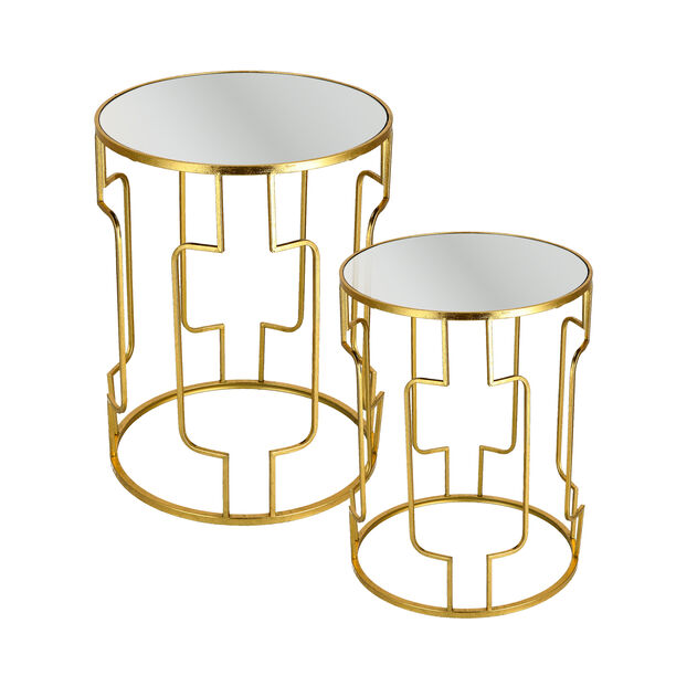 Nested Table Set Of 2 Gold image number 1