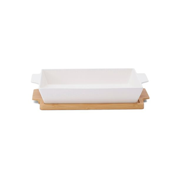 La Mesa Oven/Serving Rectangle Plate With Bamboo image number 0