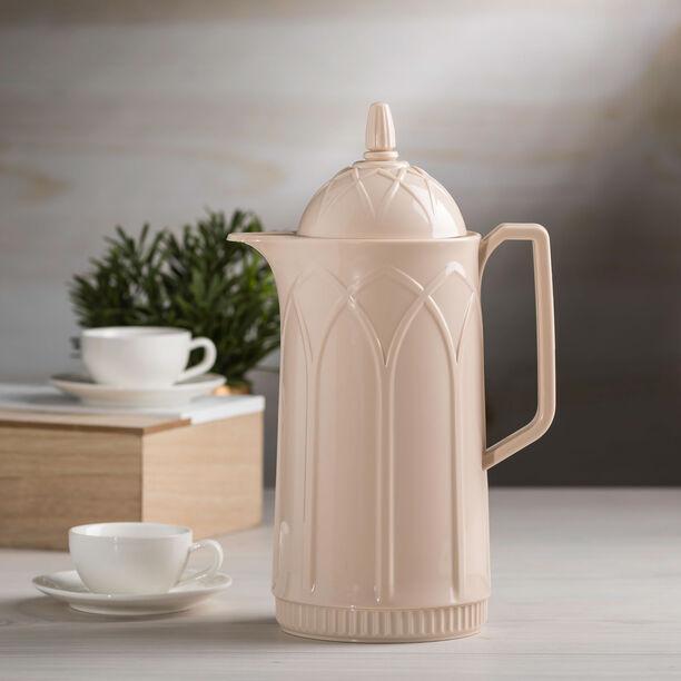 Dallety Plastic Vacuum Flask Beige image number 2