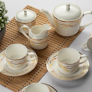 17 Pieces English Tea Set