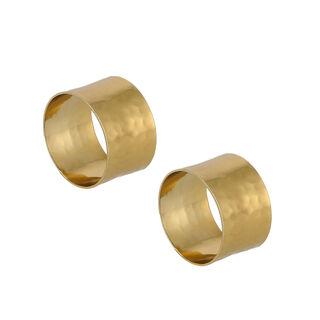 Manuscript Napkin Ring Set Of 2 Gold