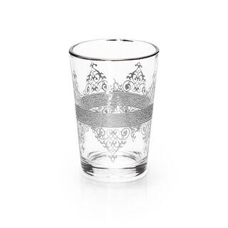 Moroccan Tea Glass 6 Peaces Silver