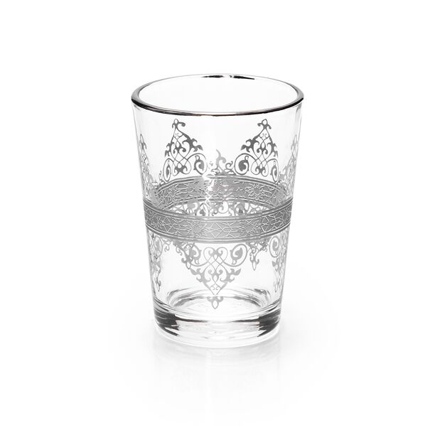 Moroccan Tea Glass 6 Peaces Silver  image number 0