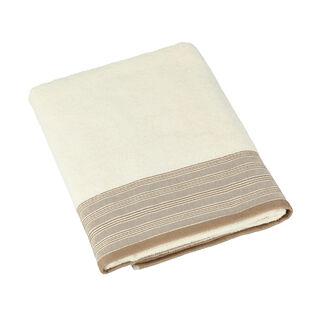 Striped Border Terry Bath Towel 90*150 Cm
