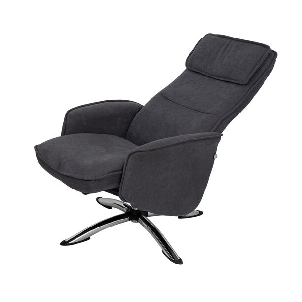 كرسي مكتبي مع مسند إضافي لون رمادي غامق image number 1