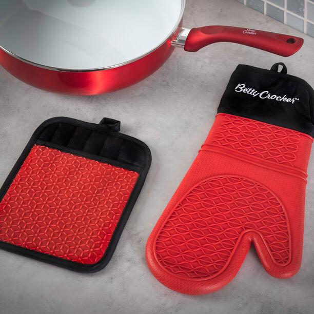 Betty Crocker Silicone Kitchen Glove Red image number 2