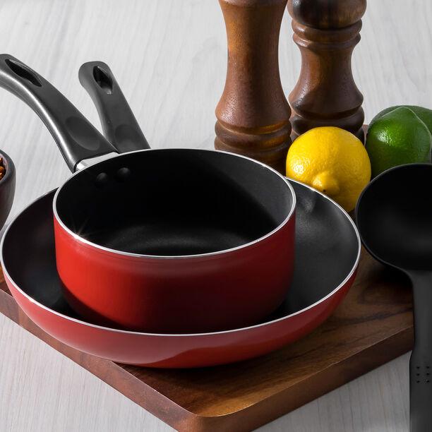 Alberto 2 Pieces Set Fry Pan + Sauce Pan Red  image number 0