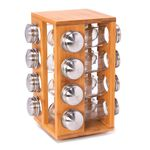 Spice Jars Set 16 Pieces With Bamboo Rack  image number 0