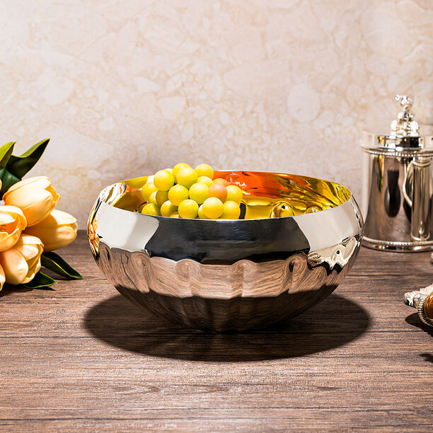 AMBRA SILVER PLATED BOWL image number 0