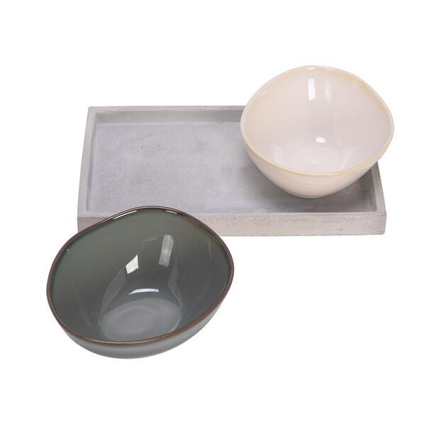 2 Pcs Serving Bowl On Cement 33 Cm image number 1