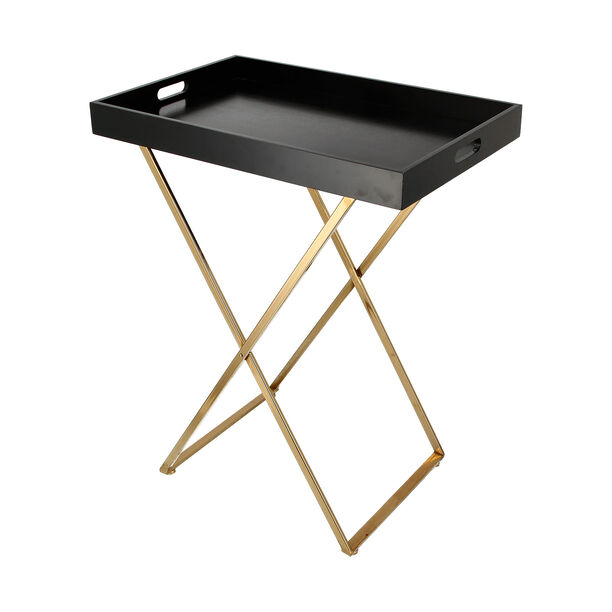 Butler Table Tray Top Gold With Black image number 2